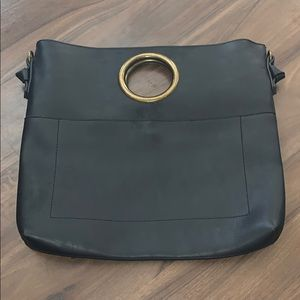Handbags - NEW boutique faux leather ring convertible clutch